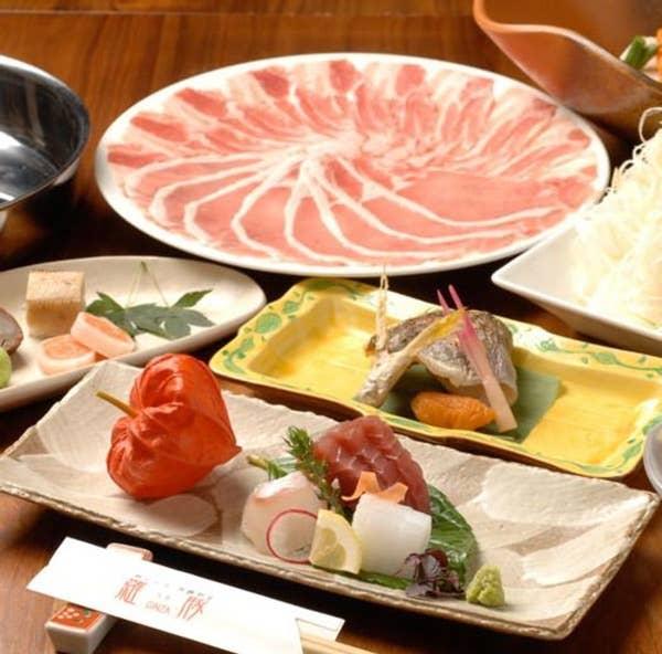 ■平日限定:5,600円コース(税抜) 黒豚しゃぶしゃぶ