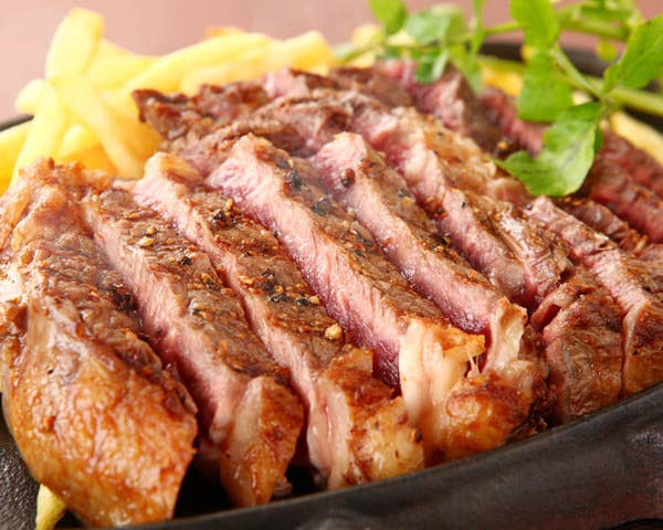 2時間飲み放題のリブロースステーキ付き!しっかり食べれるスタンダードプラン