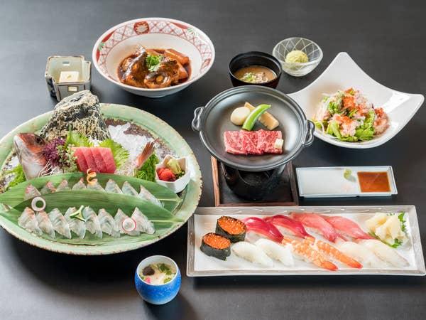 【ランチタイム限定】お寿司やステーキを愉しむ特別コース《全7品》【誕生日/ご慶事/法要/ランチ】
