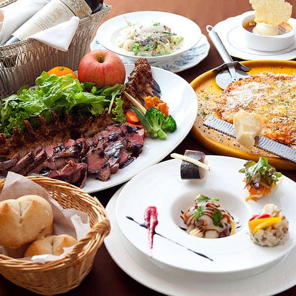 ★特別Bパーティープラン(大皿取り分けイタリアン11品&120分飲放題)★歓送迎会、宴会に!季節感溢れる大皿料理。