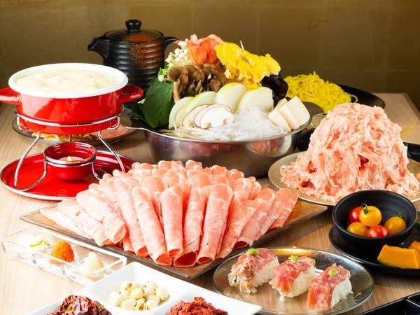 【Gコース】食べ放題+飲み放題+お通し付き(2時間) 4,560円(税抜)