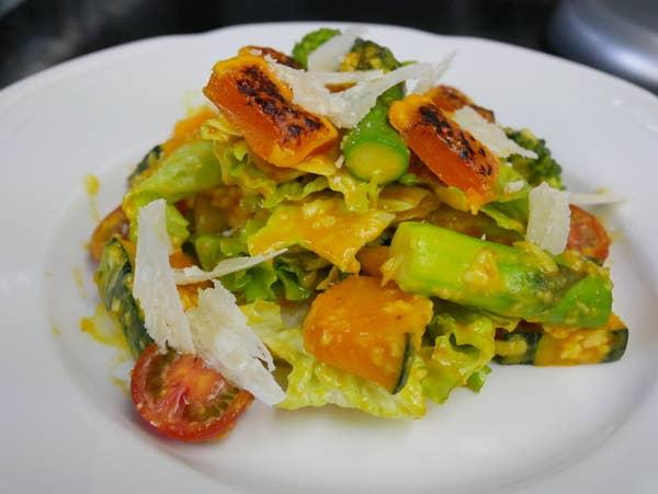 シーザーサラダ+ジャガイモグラタン