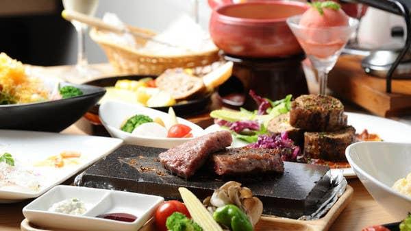 【ディナー 飲み放題付き】2種類のラクレット食べ比べセット&野菜とお肉の欲張りコース~バーニャカウダや黒毛和牛も!~