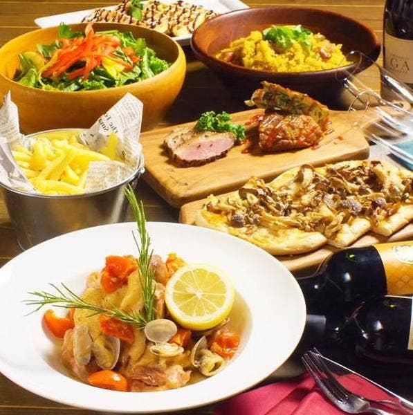 【新年会に】たっぷり3時間飲み放題+旬の食材を使用したお料理全8品4000円⇒3500円
