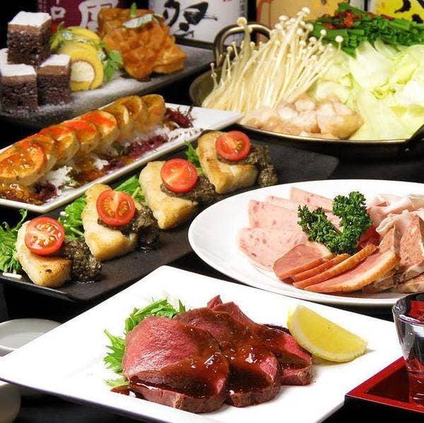 新年会に主賓へ『最上の極み』2種の選べるお鍋など全10品、3時間飲み放題付き6000円⇒5000円
