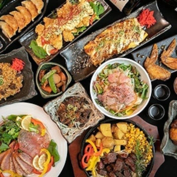 【昼宴会/最大5時間飲み放題付】牛レアステーキ・焼鳥含む全100種以上食べ飲み放題プラン3300円