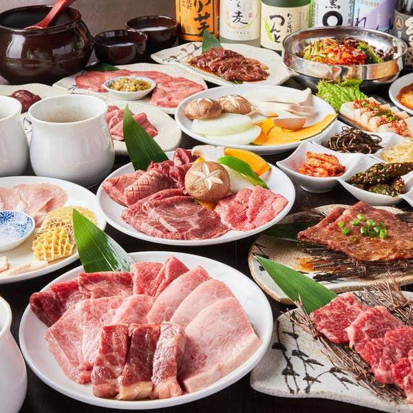 牛カルビ,牛ハラミ,壺シリーズ&タン塩含む全75品×120分食べ放題⇒2980円