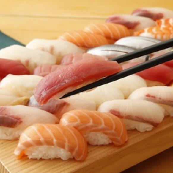 【お寿司食べ放題コース】おつまみやデザートもOK!100分食べ放題 2850円(税抜)