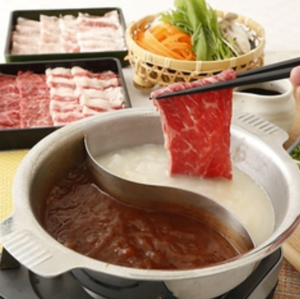 【牛・豚コース】しゃぶしゃぶ100分食べ放題 2980円(税抜)