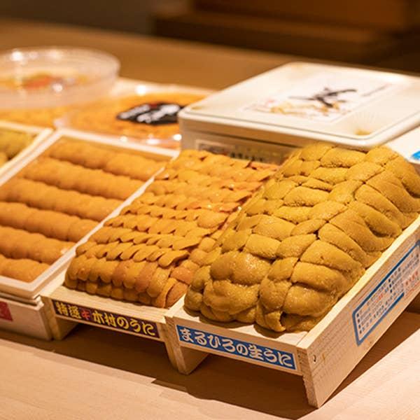 雲丹9種食べ比べ付き 季節のおまかせ特上握りコース