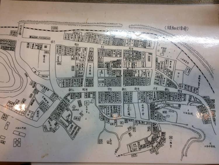 昔は栄えていた川本の街